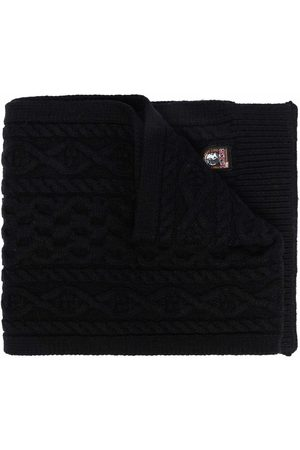 Parajumpers Logo-patch cable-knit scarf