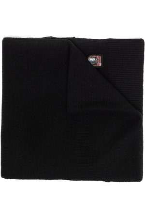 Parajumpers Scarves - Logo-patch knitted scarf