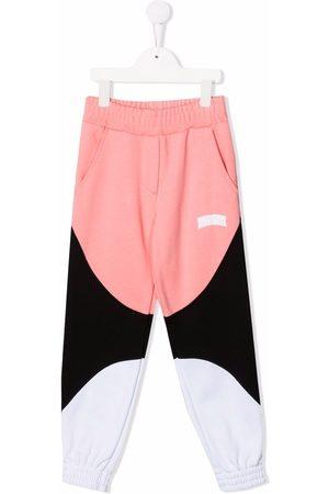 Msgm Boys Sweatpants - Logo-print cotton track pants
