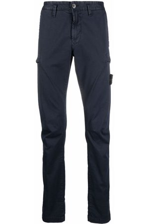 Stone Island Men Skinny Pants - Logo-patch slim-fit trousers