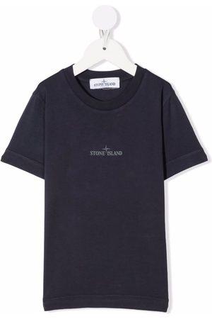 Stone Island Boys Short Sleeve - Logo-print short-sleeved T-shirt
