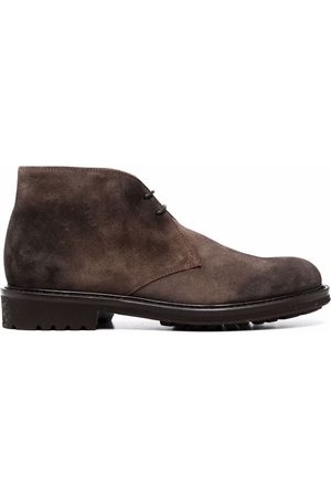 Doucal's Lace-up suede boots