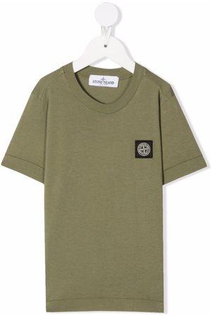 Stone Island Boys Short Sleeve - Logo-patch short-sleeved T-shirt