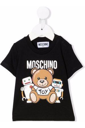 Moschino Short Sleeve - Teddy bear-print short-sleeved T-shirt