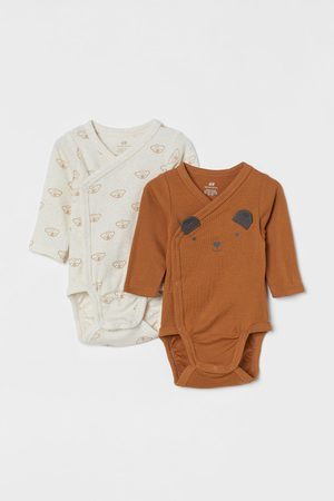 H&M Bodies - 2-pack Long-sleeved Bodysuits
