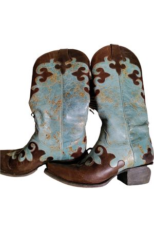 Turquoise Lane Leather western boots