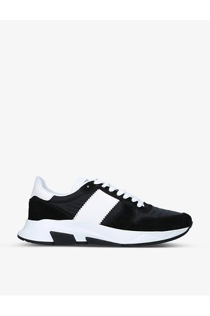 Tom Ford Jagga panelled leather low-top trainers