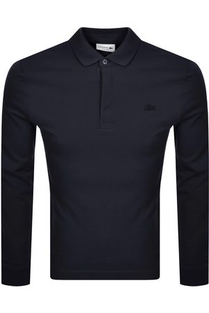 Lacoste Long Sleeved Polo T Shirt Navy