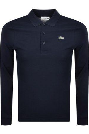 Lacoste Men Long Sleeve - Sport Long Sleeved Polo T Shirt Navy
