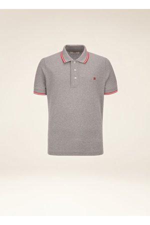 Bally Stripe Detail Polo Shirt Grey 56