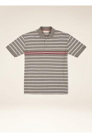 Bally Striped Polo Shirt Grey Xs