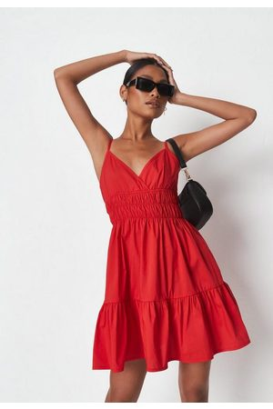 Missguided Women Party Dresses - Poplin Shirred Cami Mini Dress