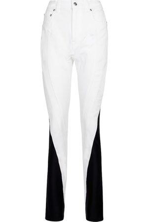 MUGLER High-rise slim jeans