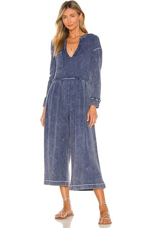 Free People Do Not Disturb Jumpsuit in Navy.