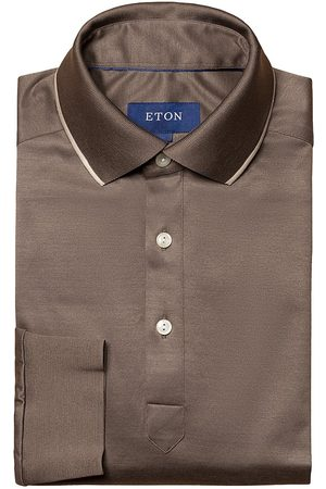 Eton Turning To Nature Contemporar-Fit Long-Sleeve Polo Shirt