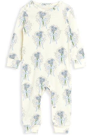 Mini Rodini Baby Girl's Winterflowers One-Piece Coveralls
