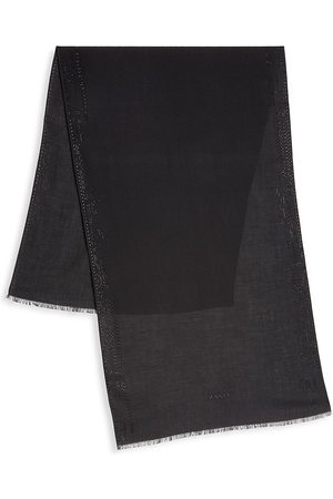 AKRIS Cashmere Punch Card Scarf