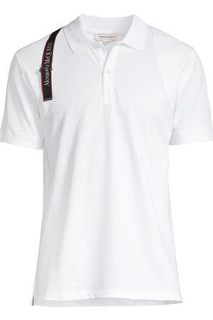 Alexander McQueen Logo Tape Harness Polo Shirt