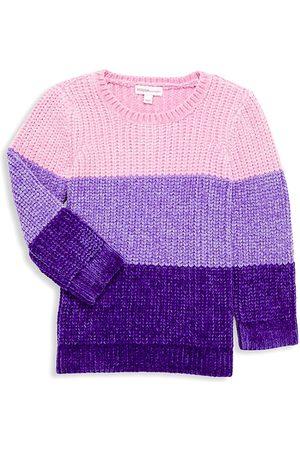 Design History Little Girl's & Girl's Colorblock Knit Sweater