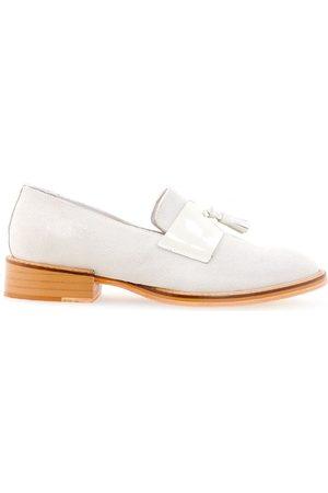 Studio Chofakian Women Loafers - Chamois loafers - Grey