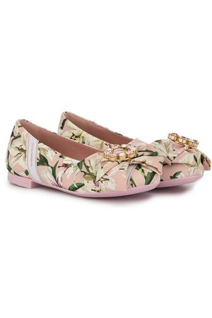 Dolce & Gabbana Girls Ballerinas - TEEN floral print ballerina shoes