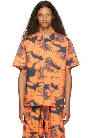 Vyner Articles Orange & Black Hawaii Short Sleeve Shirt