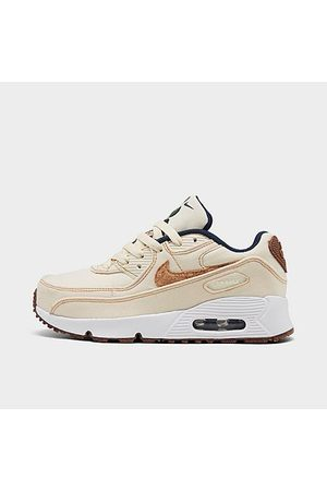 Nike Little Kids' Air Max 90 SE Casual Shoes in Off- /Coconut Milk Size 11.0 Canvas