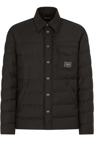 Dolce & Gabbana Men Puffer Jackets - Logo-patch quilted padded jacket