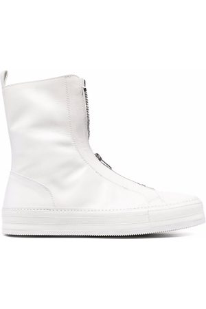 ANN DEMEULEMEESTER Men Ankle Boots - Dual zip-front ankle boots