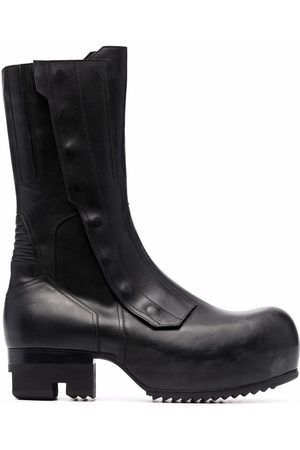 Rick Owens Men Biker Boots - Biker Ballast leather boots