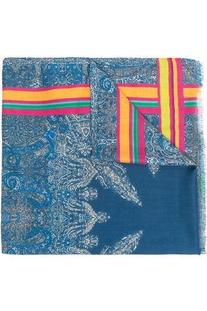 Etro Paisley silk-cashmere blend scarf