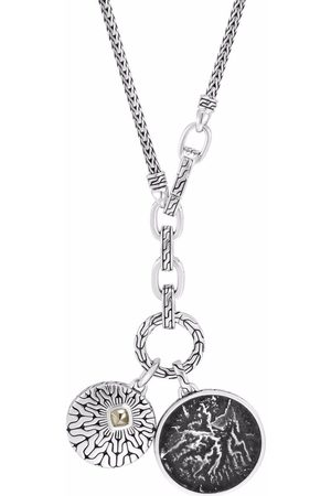John Hardy Reticulated transformable amulet pendant chain necklace
