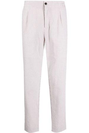 SHANGHAI TANG Seersucker slim-fit trousers