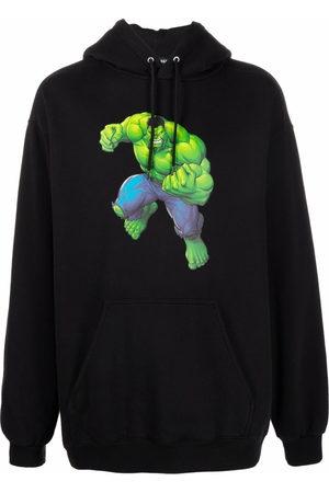 Balenciaga Men Hoodies - Hulk-print hoodie