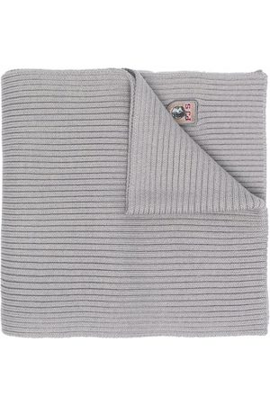Parajumpers Scarves - Ribbed logo-patch scarf - Grey