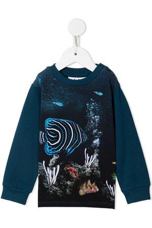 Molo Sweatshirts - Botanical-print cotton sweatshirt