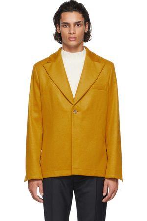 Séfr Men Blazers - SSENSE Exclusive Yellow Power Blazer