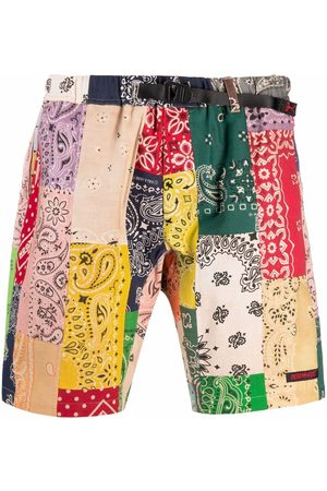 READYMADE Men Bermudas - Patchwork bandana print shorts - Neutrals