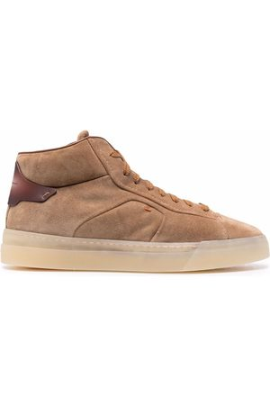 santoni Lace-up high-top sneakers - Neutrals