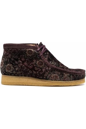 Clarks Men Ankle Boots - Floral-print leather ankle boots