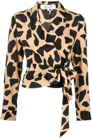 Diane von Furstenberg Women Blouses - Giraffe-print blouse - Multicolour