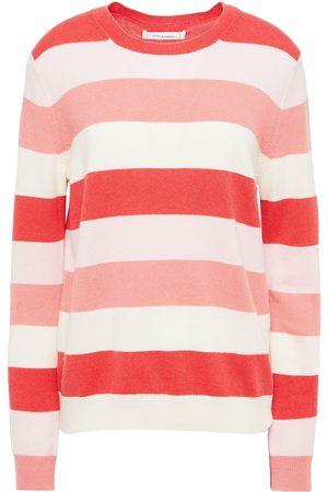 Chinti & Parker Women Sweaters - Woman Striped Wool And Cashmere-blend Sweater Papaya Size L