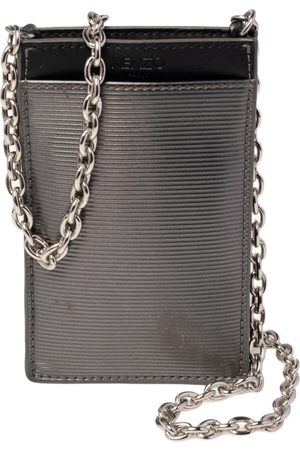 Kenzo Grey Tiger Embossed Patent Leather Phone Carrier Bag
