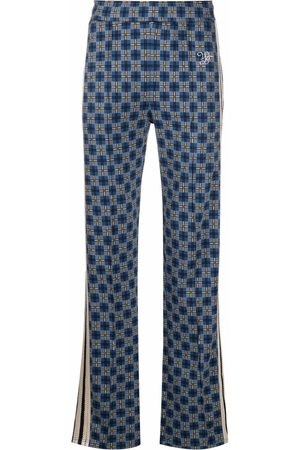 WALES BONNER Check-print straight-leg trousers