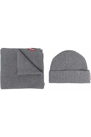Dsquared2 Men Beanies - Scarf and beanie set - Grey