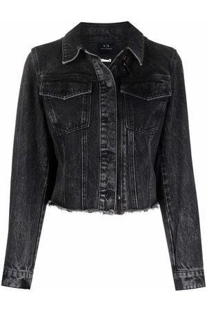 Armani Women Denim Jackets - Cropped denim jacket