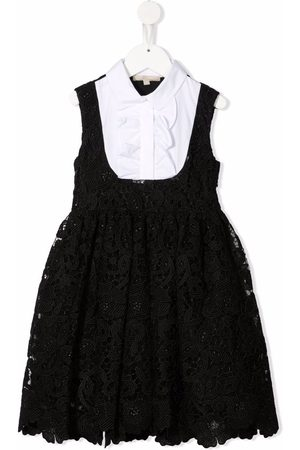 Elie saab Lace-patterned panelled dress