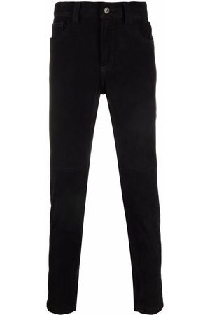 SALVATORE SANTORO Men Slim - Slim-fit suede jeans