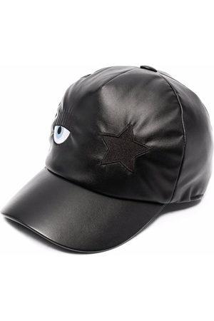 Chiara Ferragni Girls Caps - Eye-patch faux leather baseball cap