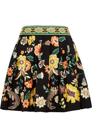 ALICE+OLIVIA Women Mini Skirts - Fizer floral-embroidered mini skirt